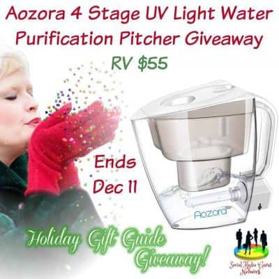 Aozora 4 Stage UV Light Water Purification Pitcher Giveaway