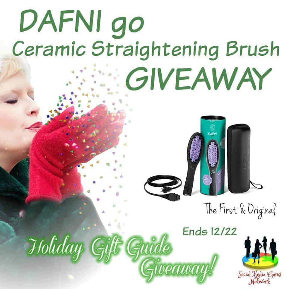 DAFNI go Ceramic Straightening Brush Giveaway