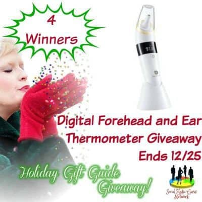 Digital Forehead and Ear Thermometer Giveaway (4-Winners)
