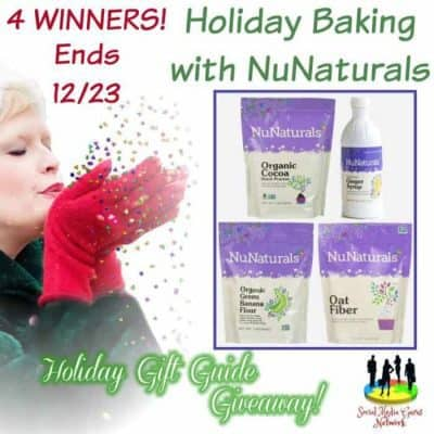 Holiday Baking with NuNaturals Giveaway (4-Winners)
