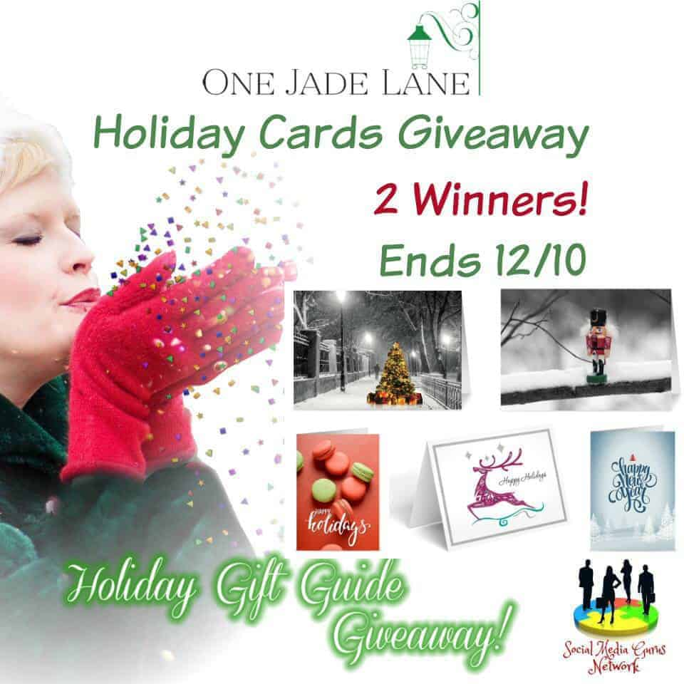 One Jade Lane Holiday Cards Giveaway