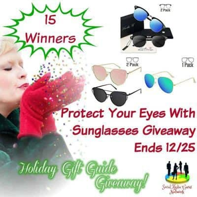 Protect Your Eyes With Sunglasses Giveaway (15-Winners)