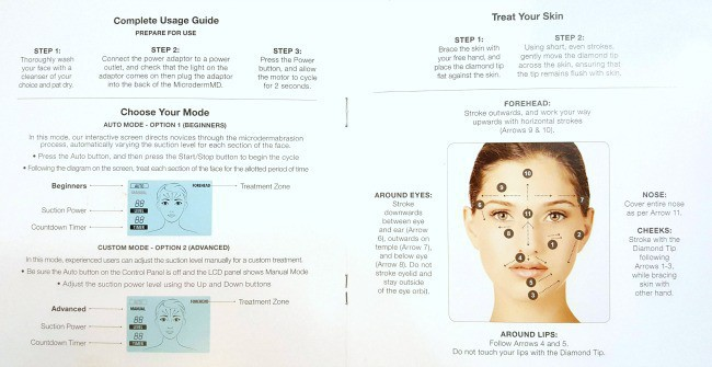 Trophy Skin Microdermabrasion MicrodermMD System Instructions Usage Guide