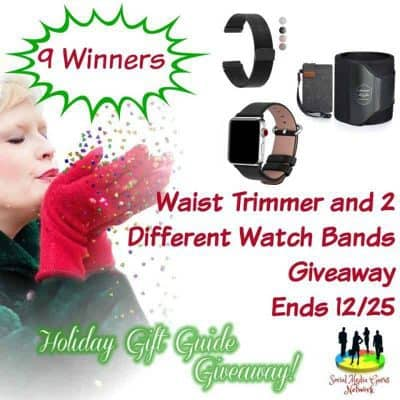 Waist Trimmer and 2 Different Watch Bands Giveaway (9-Winners)
