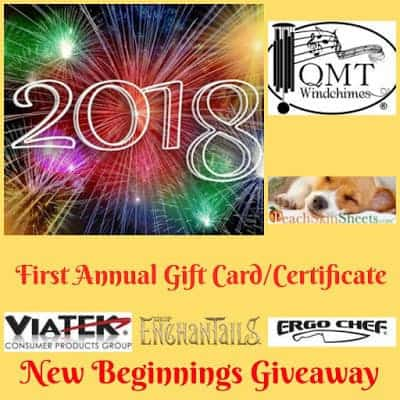 2018 First Annual Gift Card/Certificate New Beginnings