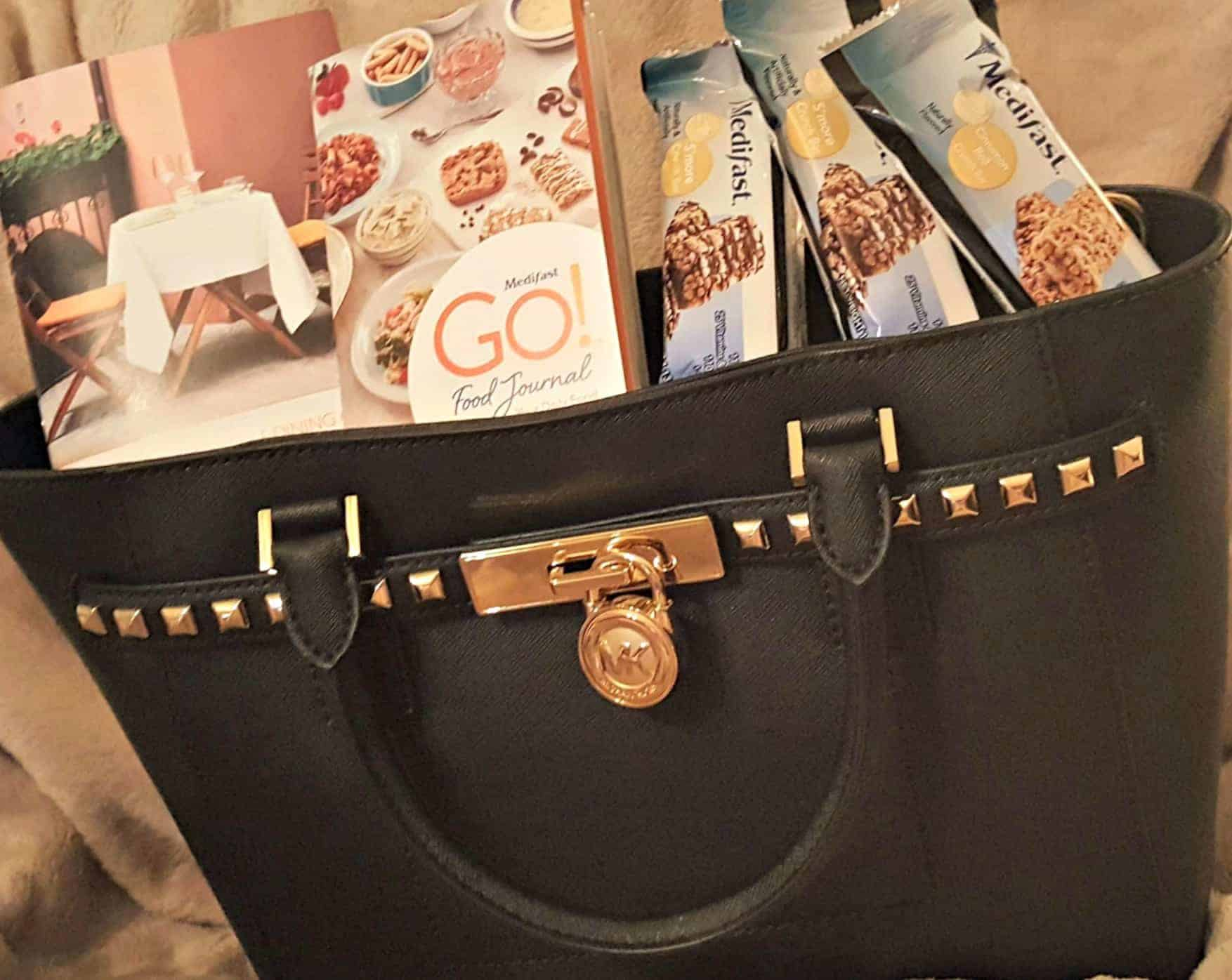 Medifast Go Diet Weight-loss Food Journal and Dining Out Guide Michael Kors Handbag
