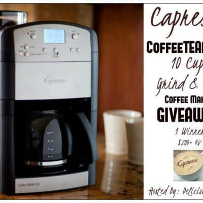 Blogger Opp: Capresso CoffeeTEAM GS 10 Cup Grind & Brew Giveaway ($200 RV+)