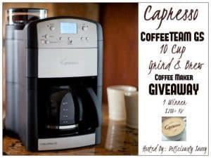 Capresso CoffeeTEAM GS 10 Cup Grind & Brew Specialty Brewer