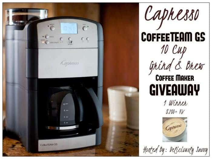Capresso CoffeeTEAM GS 10 Cup Grind & Brew