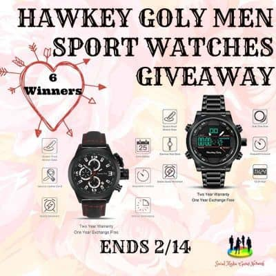 Hawkey Goly Men Sport Watches Giveaway (6-Winners)