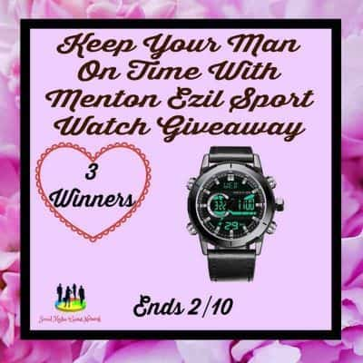 Keep Your Man On Time With Menton Ezil Sports Watch Giveaway