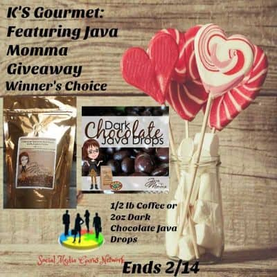 K's Gourmet Featuring Java Momma Coffee & Chocolate Giveaway