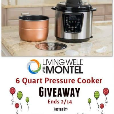Living Well With Montel 6Qt Pressure Cooker Giveaway