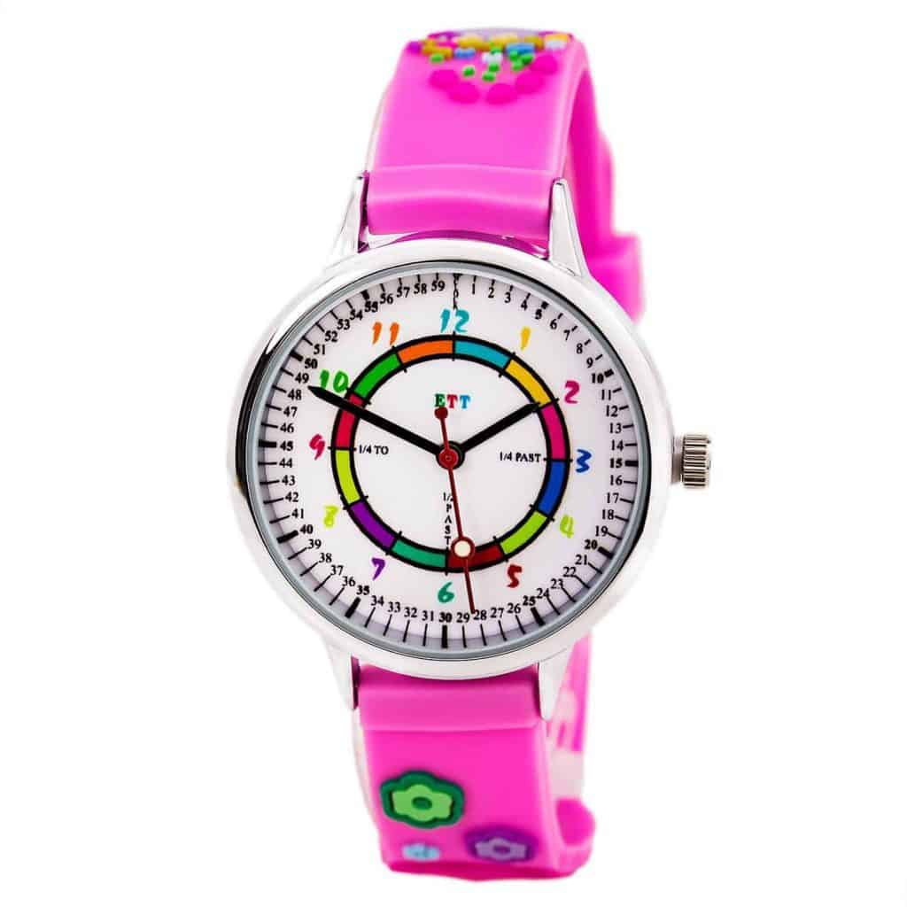 My Gift Stop ETT103 Kid's Pink Rubber Strap Quartz Time Teaching Watch