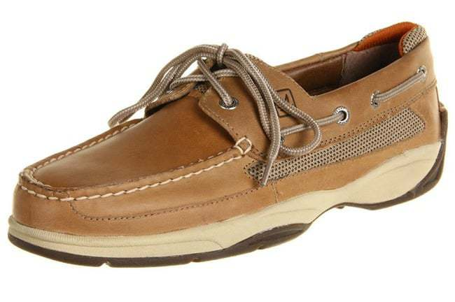 My Gift Stop Sperry 0777924-095M Men's Lanyard Linen Leather & Stain 2-Eye Boat Shoe