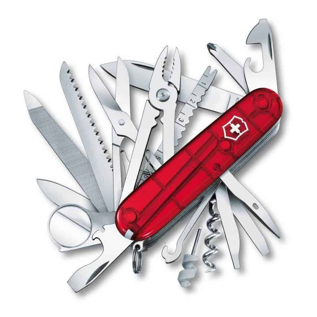 My Gift Stop Victorinox Swiss Army 53506 Ruby Red Handle SwissChamp Pocket Knife