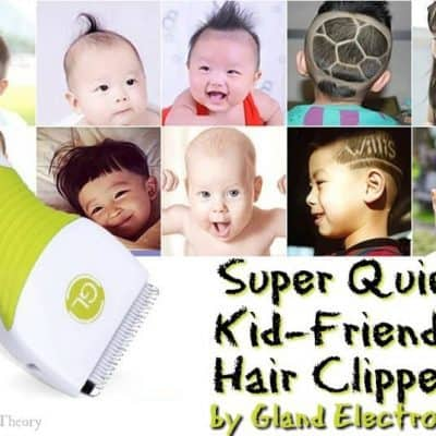 Super Quiet Kid-Friendly Hair Clippers by Gland Electronics