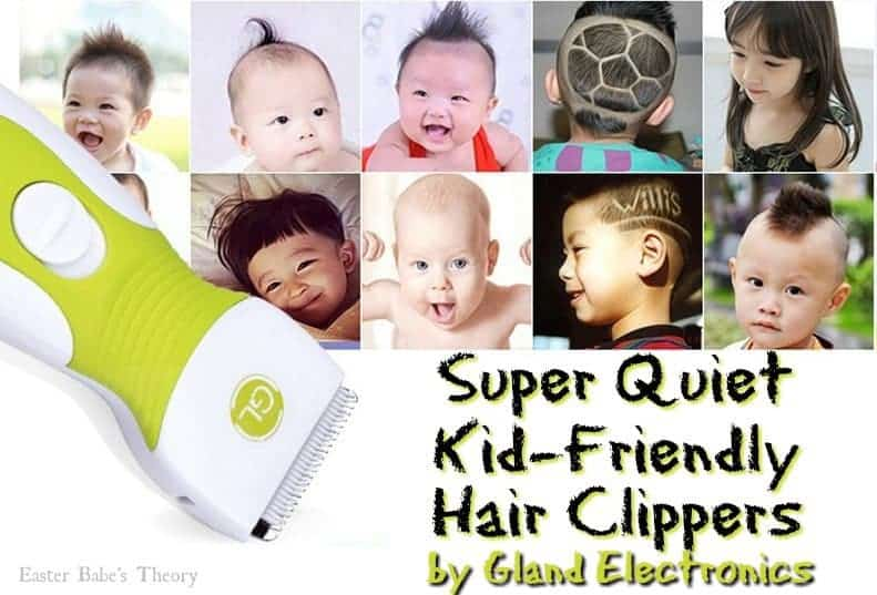 Super Quiet Kid Friendly Hair Clippers by Gland Electronics GLL-9A