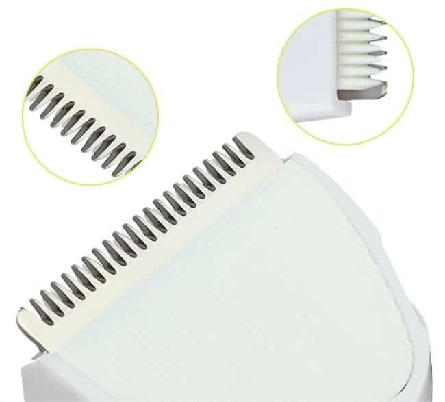 Super Quiet Kid Friendly Hair Clippers by Gland Electronics GLL-9A Sawtooth Rounded Edge Blades