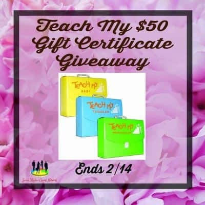 $50 Gift Certificate to TeachMy.com Giveaway