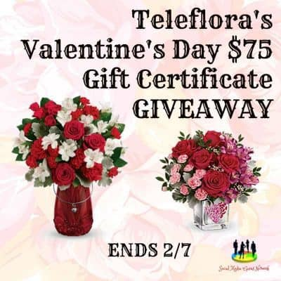 Teleflora's Valentine's Day $75 Gift Certificate Giveaway