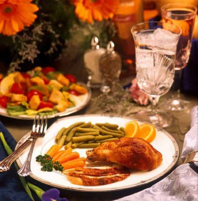 Healthy Holiday Thanksgiving Dinner