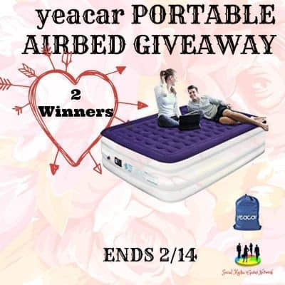 yeacar Portable Airbed Giveaway (2-Winners)