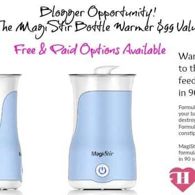 Blogger Opp: MagiStir Bottle Warmer Giveaway