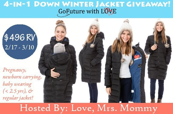 GoFuture With Love 4-in-1 Down Winter Jacket