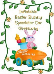 Inflatable Easter Bunny Speedster Car