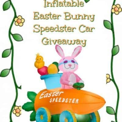 Inflatable Easter Bunny Speedster Car Giveaway