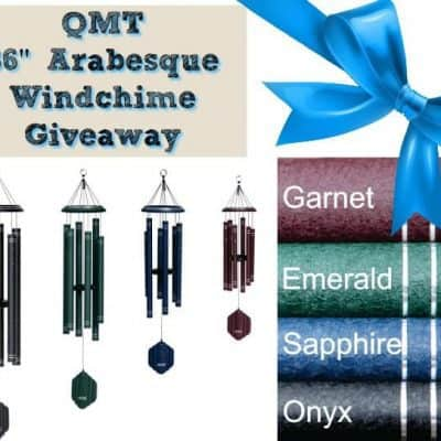 QMT 36″ Arabesque Windchime Giveaway (2-Winners)