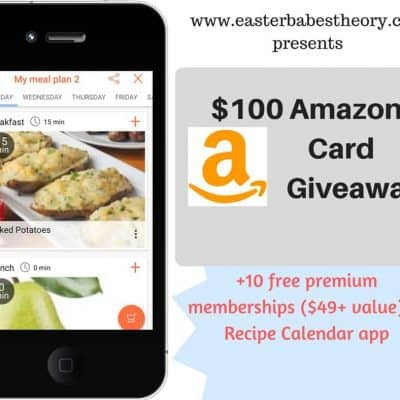 $100 Amazon Gift Card & Recipe Calendar Membership Giveaway