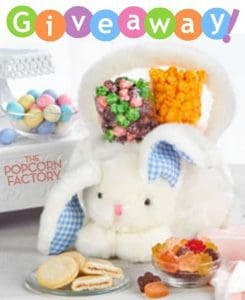 The Popcorn Factory Plush Bunny Basket