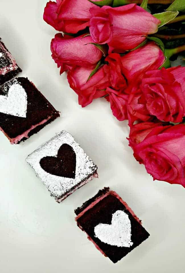 Valentine's Day White Chocolate Ganache Brownie Recipe