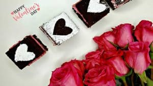 Valentine's Day White Chocolate Ganache Brownie Recipe slider