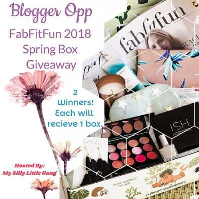 Blog Opp: FabFitFun 2018 Spring Box Giveaway