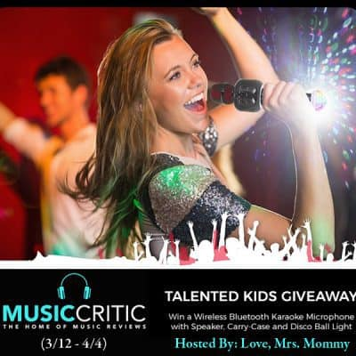 Wireless Bluetooth Karaoke Microphone with Disco Ball & Carrying Case Giveaway