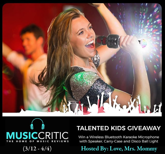 Music Critic Wireless Bluetooth Karaoke Microphone with Disco Ball and Carrying Case Giveaway