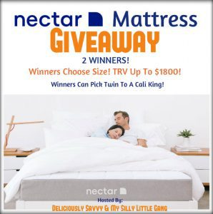 NECTAR Mattress Giveaway Blog Opp