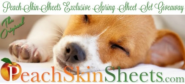 PeachSkinSheets Exclusive Spring Sheet Set Giveaway