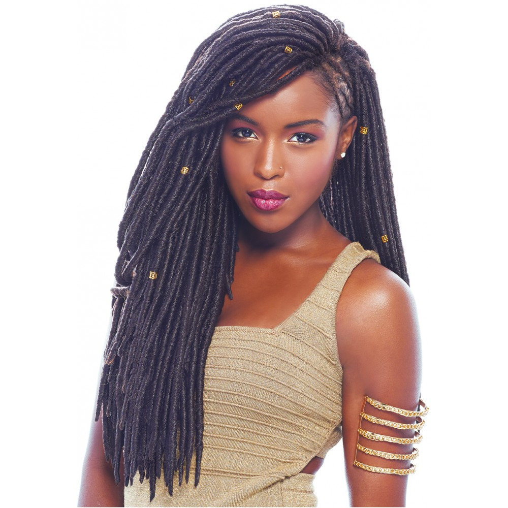 Crochet Braids Hairstyle Divatress Janet Collection Braids – 2x Havana Mambo Faux Locs 18""
