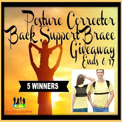 Posture Corrector Back Support Brace Giveaway (5-Winners)