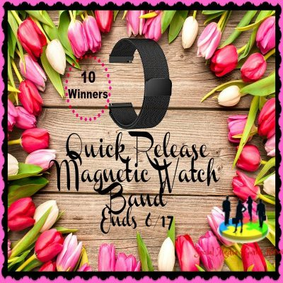 Quick Release Magnetic Watch Band Giveaway (10-Winners)