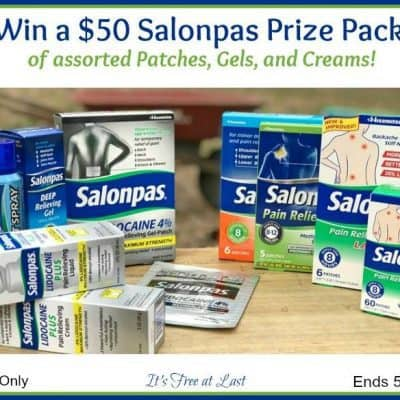 $50 Salonpas Prize Pack Giveaway
