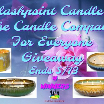 Flashpoint Candle – The Candle Company For Everyone Giveaway (4-Winners)