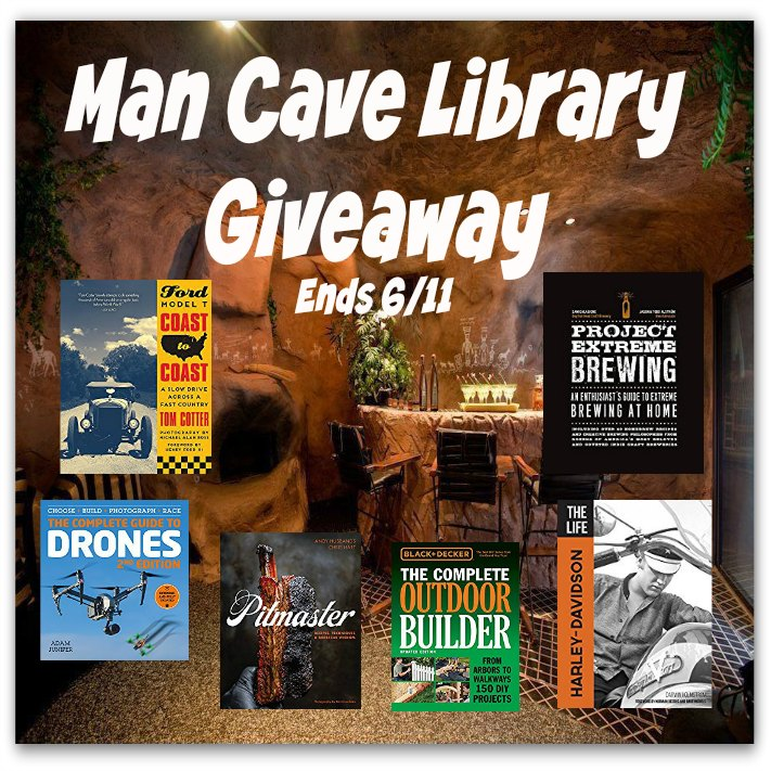 Man Cave Library Giveaway
