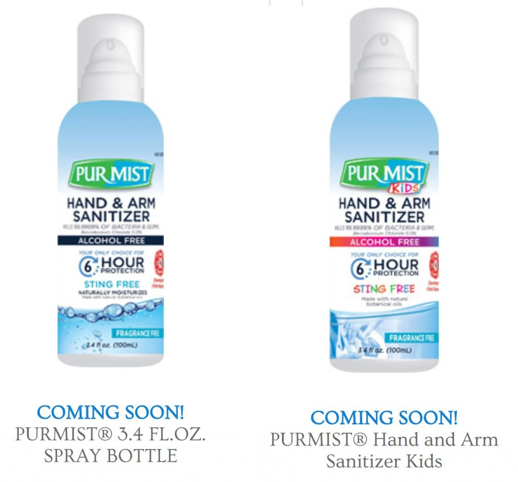 PurMist Hand and Arm Sanitizer Spray