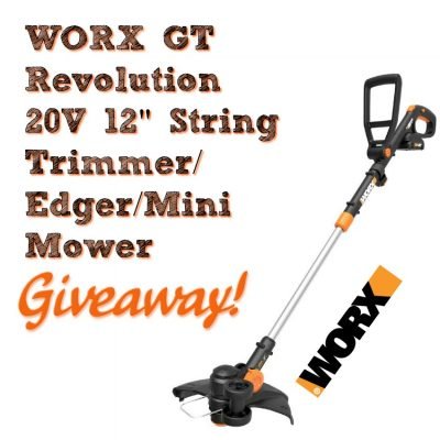 WORX GT Revolution 20V 12″ String Trimmer Mini Mower Giveaway (2-Winners)