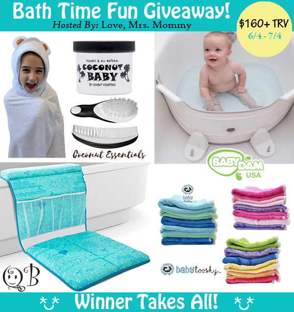 Bath Time Fun with QueBebe Baby Tooshy Coconut Essentials BabyDam